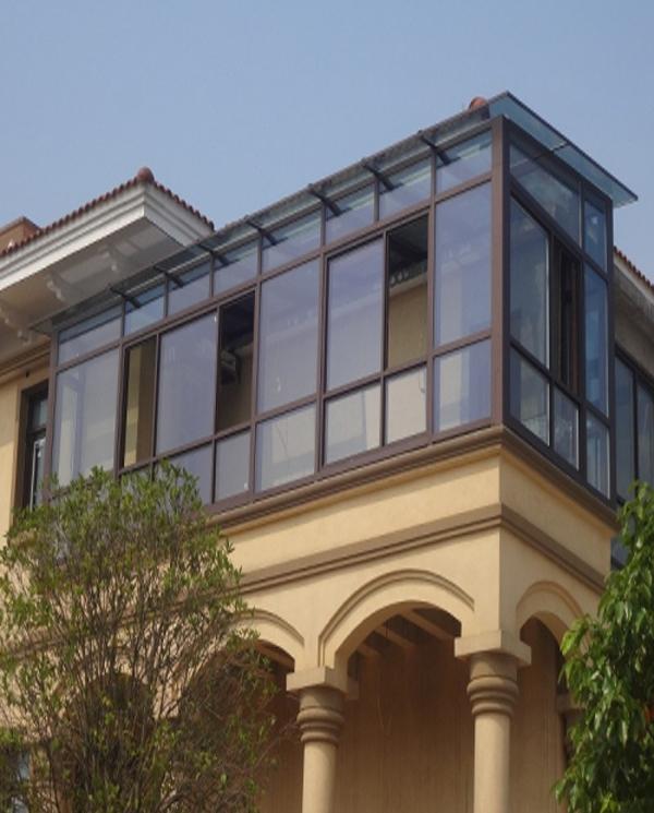 铝木断桥阳光房              长沙推拉门窗厂家