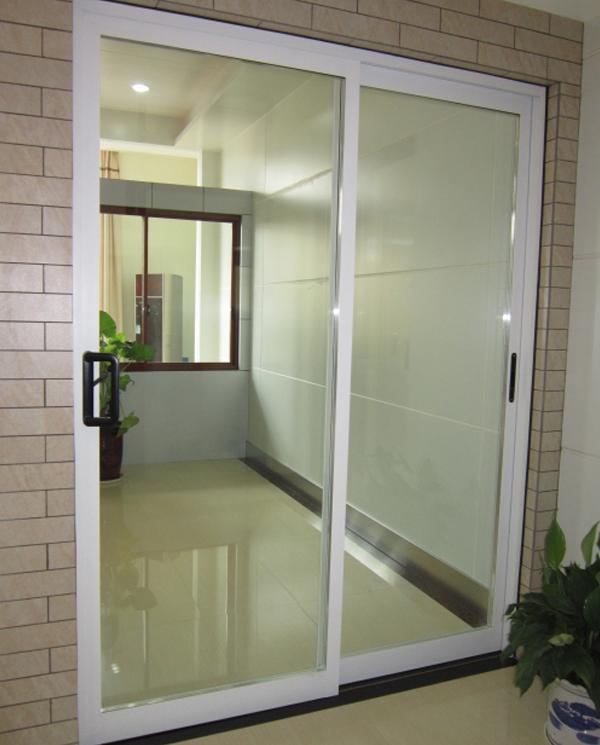 新款氟碳白隔断门         长沙金刚防蚊防护窗